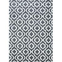 Alfombra del área del enrejado marroquí de Alfombras persas, 5 x 7 pies, gris