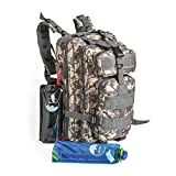 Tactical Backpack - HAIXUN 30L Military Tactical Backpack for Outdoor Shooting Hunting Camping Hiking Travel, including 2 Collapsible Water Bottles