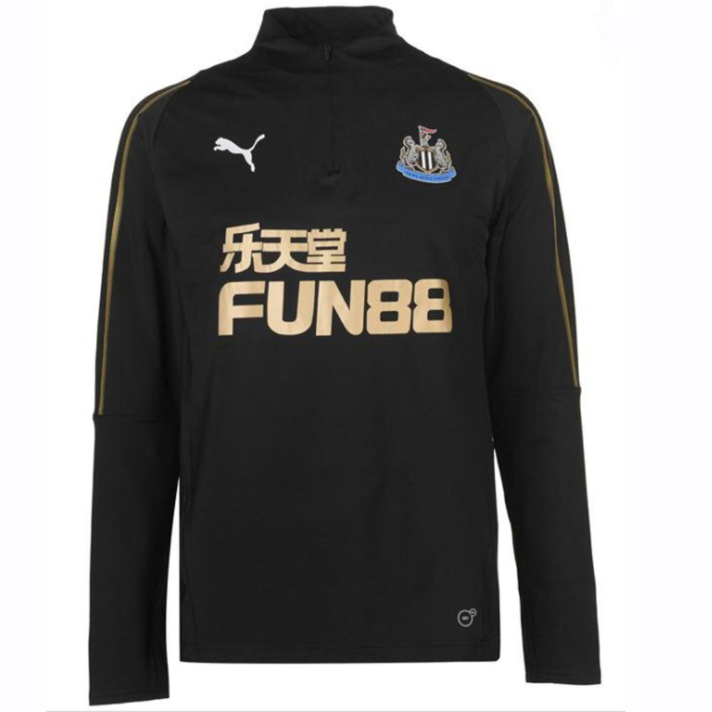 Puma 2018-2019 Newcastle Quarter Zip Training Top (schwarz)