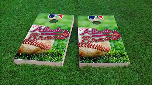 Tailgate Pro's Atlanta Baseball Cornhole Boards, ACA Corn Hole Set, Comes with 2 Boards and 8 All Weather Bags