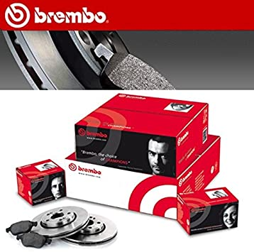 Brembo Brake Pads >> Brembo Brake Discs Kit 4 Front Brake Pads 09 A968 24
