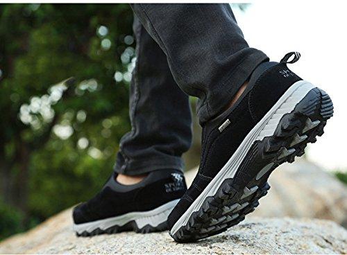Mode Basket de Homme Chaussure Slip-on Cheville Sport Urbain Running Jogging Loisir Sneakers Casuel Antidérapant Antichoc 39-44 Basse Noir cr9yI