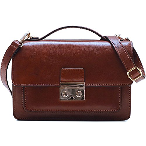 Floto Milano Mini Full Grain Leather Satchel Handbag by Floto