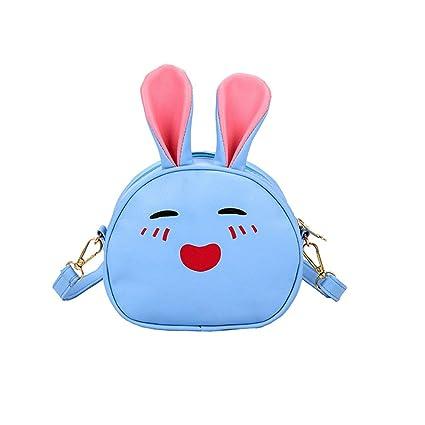 Kentop Mochila Multifuncional Bolso de Bandolera Carteras con Diseño de Conejo de Dibujos Animados para Niño