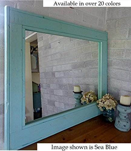 Cheap Renewed Décor Herringbone Reclaimed Wood Mirror in 20 colors – Large Wall Mirror – Rustic Modern Home – Home Decor – Mirror – Housewares – Woodwork – Frame – Stained Mirror