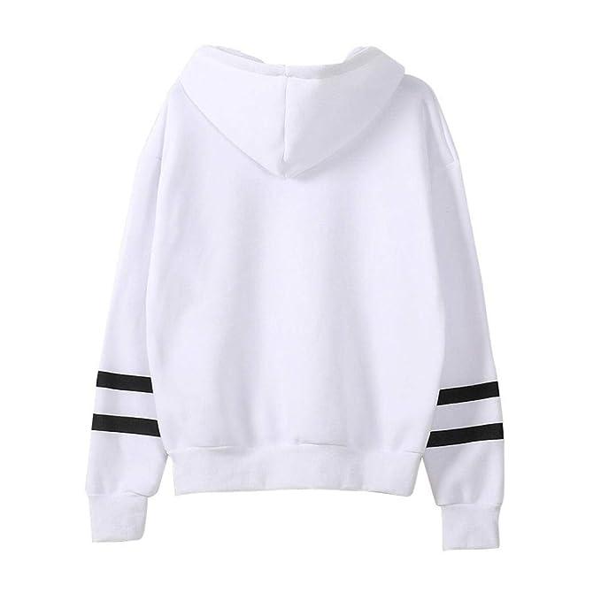 MEIbax Mujeres Manga Larga Sudadera con Capucha Jersey con Capucha suéter Tops Blusa: Amazon.es: Ropa y accesorios