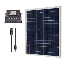 Renogy 50W 12V Polycrystalline Solar Bundle Kit