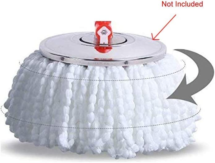 2 Pack Replacement Mop Heads Refill for 360/° Rotating Round Spin Magic Microfibre