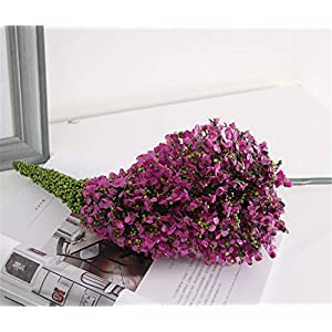 Skyseen 3Pcs Bromeliad Artificial Flower Stem Fake Pineapple Flowers Wedding, Room, Home, Hotel, Party Decoration 55