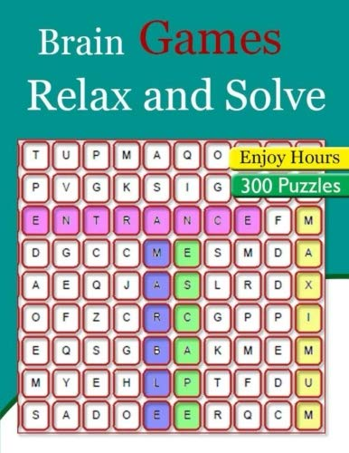 Brain Games Relax and Solve: Giant Print Word Searches Easy Fun Entertainment