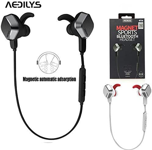 Amazon Com Bluetooth Headphones Aedilys Riginal Unique Magnet Headset Wireless Sports Bluetooth 4 1 Earphone Universal Stereo Headphone With Mic Universal Volume Control Supports Remote Photograph Electronics