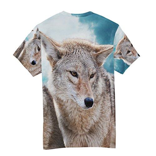 Man Multicolor Alaza Wolf Winter manica shirt Multicolor T corta qRg66H