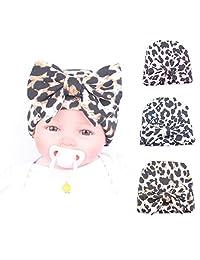Upsmile Newborn Hat Baby Girl Bow Hats Turban Headwraps Nursery Beanie Hospital Hat