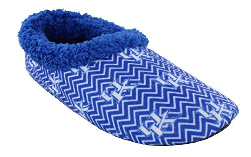 - KEN11-1 - Kentucky Wildcats - Small - Happy Feet Mens and Womens Chevron Slip On Slippers