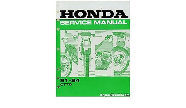 61GAN03 1991-1994 Honda CT70 Service Manual