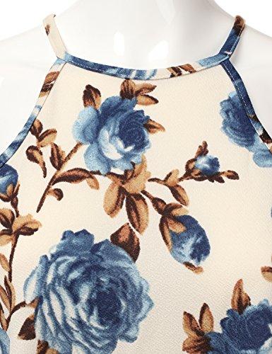 Doublju Licol Carré Du Cou Les Femmes Robe De Swing De Cou Taille Plus Awdsd0758_floraldenim