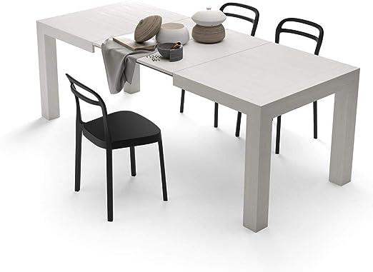 Mobilifiver Mesa de Cocina Extensible, Modelo Iacopo, Color Blanco ...