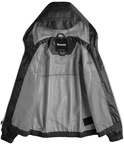 b15f9f739fb4 Wantdo Boy s Lightweight Rain Jacket Camping Hiking Windproof Mesh ...