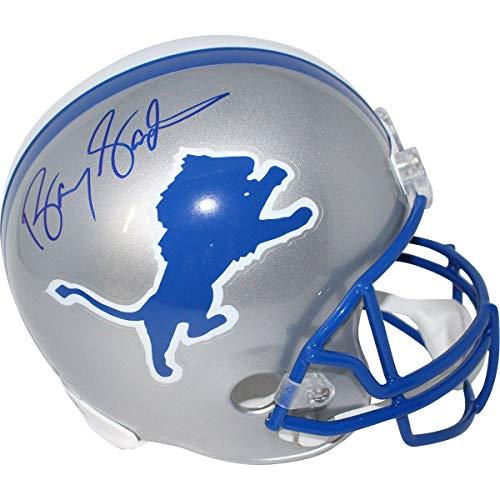 Barry Sanders Detroit Lions Signed Replica Throwback Helmet (Schwartz Auth) - Steiner Sports Certified Barry Sanders Signed Lions Replica