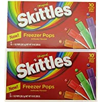 Skittles Freezer Pops ~10 freeze pop box ~ Lot of 2-SET OF 2