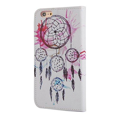 MOONCASE iPhone 6 Case Printing Series Leder Tasche Flip Schutzhülle Etui Case Cover Hülle Schale für Apple iPhone 6 / 6S (4.7 inch) XC04