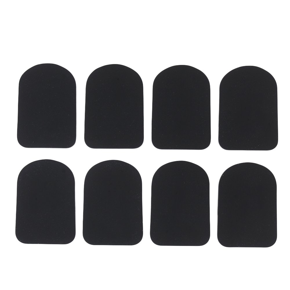 yibuy 0, 8 mm Negro Forma trapezoidal tipo 2 boquilla parches pads cojines para Sax Clarinete Saxofón Alto Pack de 8 etfshop YB1134