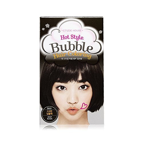 Etude House Hot Style Bubble Hair Coloring (#BK01 Deep Black)