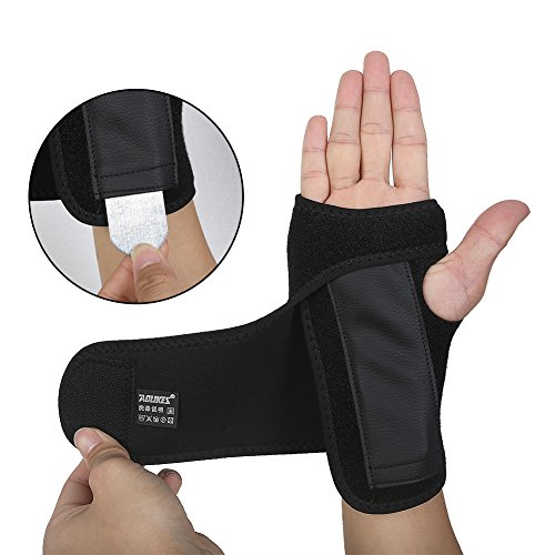DOB AOLIKES Carpal Tunnel Wrist Brace with Removable Splint and Adjustable Support Wrap (Right)