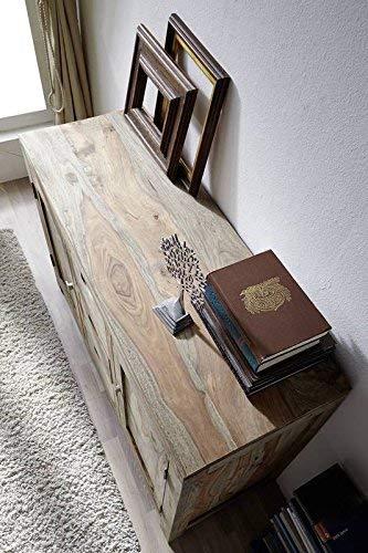 Palissandro in legno massello credenza Sheesham MOBILI NATURALE GRIGIO #83