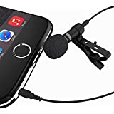 Miracle Sound Deluxe Lavalier Lapel Clip-on Omnidirectional Condenser Microphone for Apple Iphone, Ipad, Ipod Touch, Samsung Android and Windows Smartphones