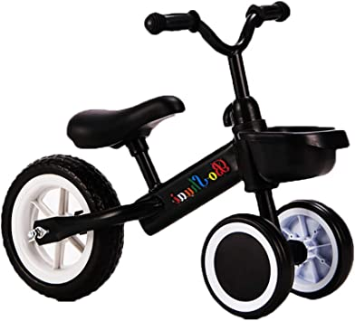 ZXDBK Bicicleta de Equilibrio, Triciclo Niño Bicicleta sin Pedales Bicicleta para Caminar 1 Año Viejo Niños Niñas Bebé Caminar Bicicleta Primera Bicicleta,Black: Amazon.es: Deportes y aire libre