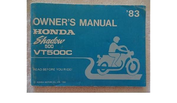 honda shadow vt500 manual