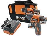Ridgid R9000K 12V Hyper Lithium-Ion Drill / Driver Combo Kit (1 x R82005 Drill, 1 x R82230 Impact Driver, 1 x AC82049 2AH Battery, 1 x AC82059 4AH Battery, 1 x R86049 Charger) (Renewed)