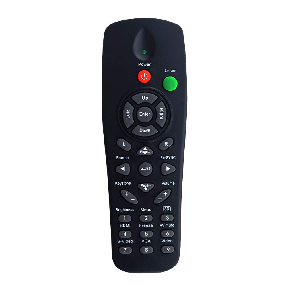 InTeching BR-3057L/ BR-5016L Projector Remote Control for Optoma DS312, DS315, DS551, DX551, DX612, DX615, EP620, EP720, EP721, EP727, EP728, EW1610, TS551, TS720, TS721, TW1610, TW631-3D, TX551 TX728 by INTECHING