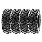 SunF ALL TERRAIN ATV UTV 6 Ply Race Tires 22x7-12 22x7x12 Tubeless A033 POWER I, [Set of 4]