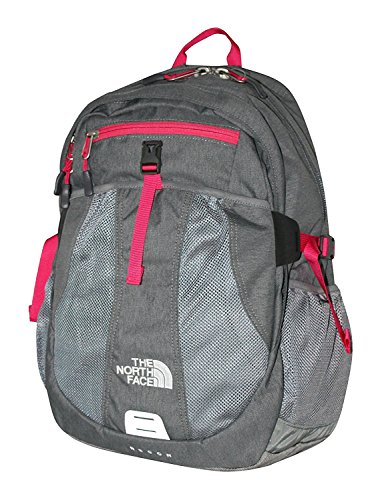 The North Face Women Recon laptop backpack book bag 17X14X4 (Zinc Grey Heather)