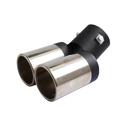 Coche universal de acero inoxidable de doble tubo de escape ...
