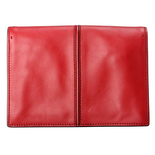 Clutch Valentino 100 Women's Garavani Red Leather Handbag Bag w1qTX1Z