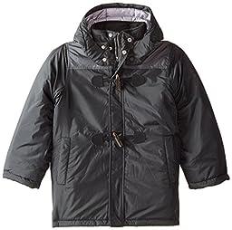 Nautica Big Boys\' Toggle Closure Snorkel Coat, Black, Small