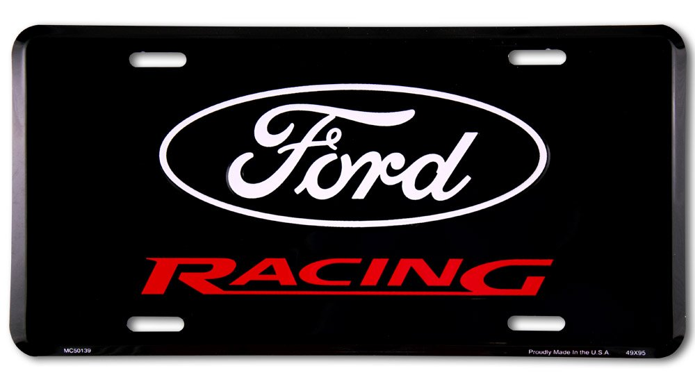 Ford Racing black Plaque le car Alu Alu plat Nouveau 15x30cm VS4138-1 Decoworld