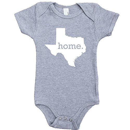 Homeland Tees Texas Home Baby Bodysuit 6 Months Grey