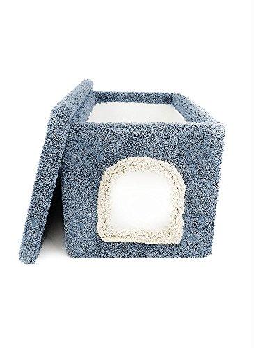 New Cat Condos Premier Litter Box Enclosure, Blue