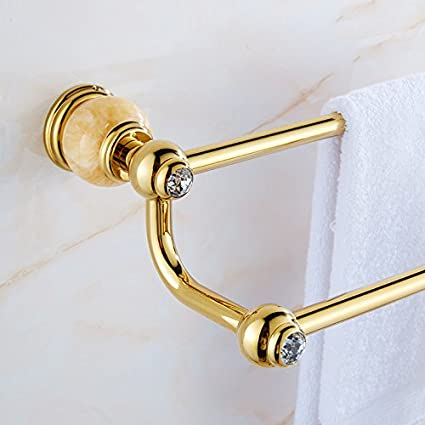 Hlluya toallero de Pared de baño Completo Jade Cobre en Tsing Yu Kit tornillería chapada en