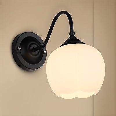 Appliques, lampes lampe murale Création lumière Mur couloir lampe de chevet Nordic Chambre salon led simple tête simple/noir 26x15cm
