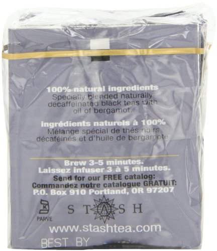 Stash Tea Decaf Earl Grey Black Tea 10 Count Tea Bags in Foil (Pack of 12) (packaging may vary) Individual Decaffeinated Black Tea Bags for Use in Teapots Mugs or Cups, Brew Hot Tea or Iced Tea by Stash Tea (Image #4)