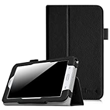 Fintie Samsung Galaxy Tab E Lite / Tab 3 Lite 7.0 Case - Slim Fit Folio Stand Leather Cover for Galaxy Tab 3 Lite 7.0 SM-T110 / SM-T111 / Tab E Lite SM-T113 7-Inch Tablet, Black