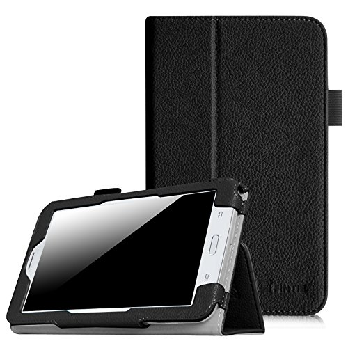 Fintie Samsung Galaxy Tab E Lite 7.0 Case - Slim Fit Folio Stand Leather Cover for Galaxy Tab E Lite SM-T113 / Tab 3 Lite 7.0 SM-T110 / SM-T111 7-Inch Tablet, Black