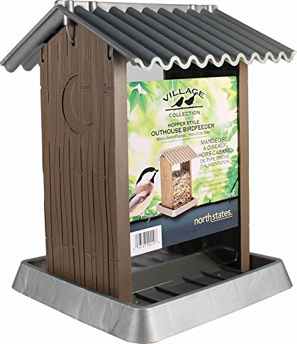 North States Large Outhouse Bird Feeder (Large Hopper Bird Feeder)