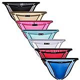 YuKaiChen Men's String Bikini Underwear Ice Silk Briefs Low Rise 7-Pack