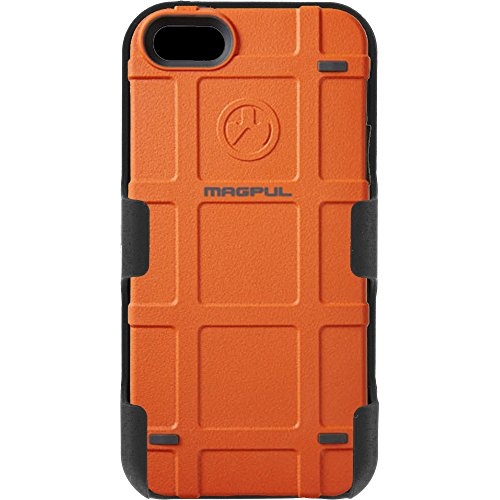 Magpul Industries iPhone 5/5s and iPhone SE MAG454-ORG Bump Case & EGO Tactical Swivel Belt Clip Holster Combo Kit (Orange)]()